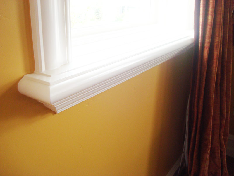 Window Sill And Brickmold Stack Painting House